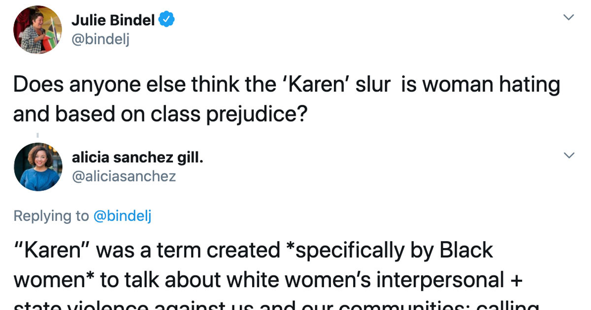 Typical 'Karen' Is Furious About Being Called 'Karen' And The Internet Hilariously Shuts Her Down