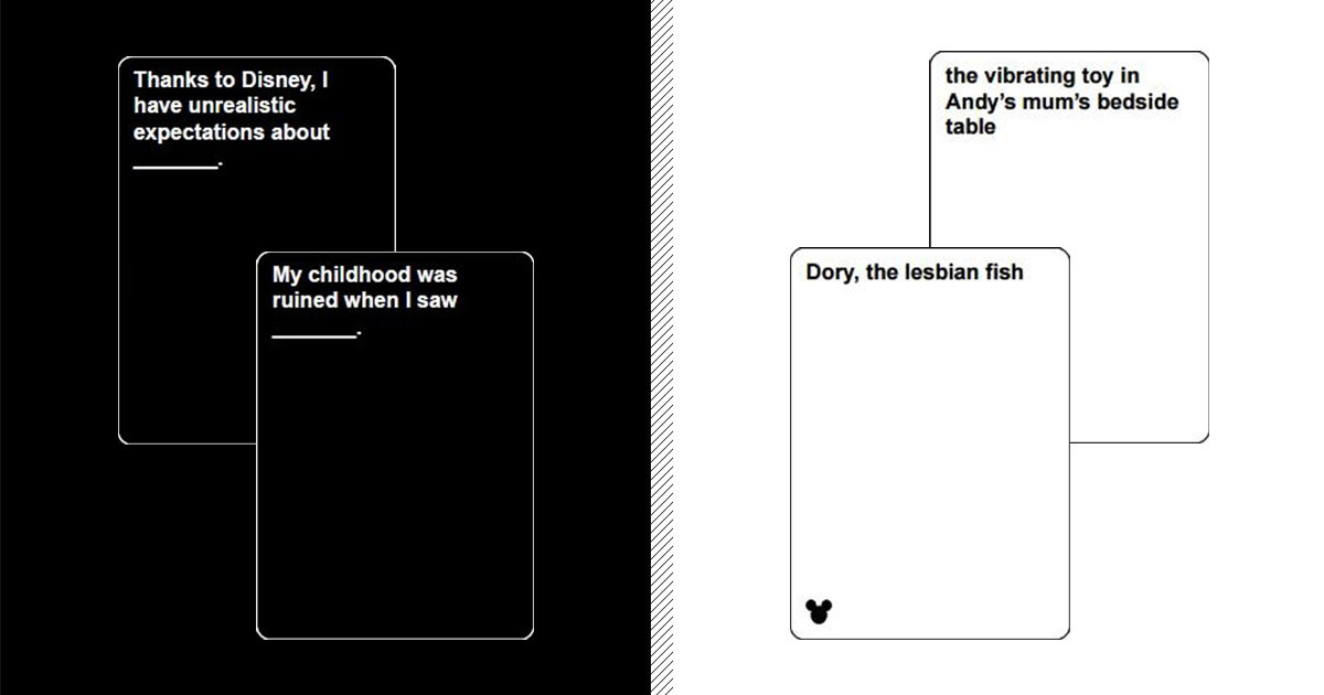 Cards Against Disney Is Now Available In Case You Needed ...