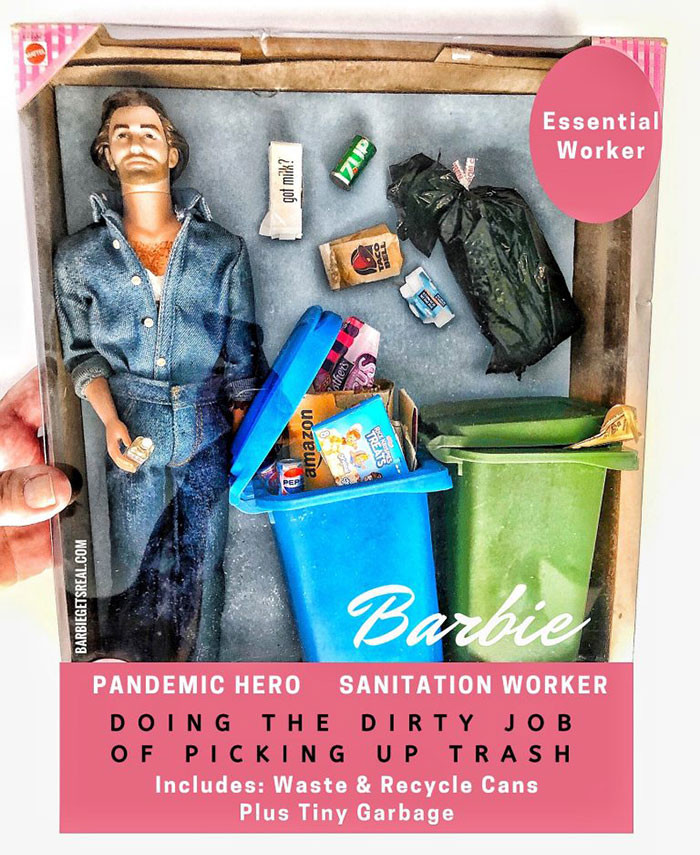 7. Pandemic Hero Barbie – Sanitation Worker
