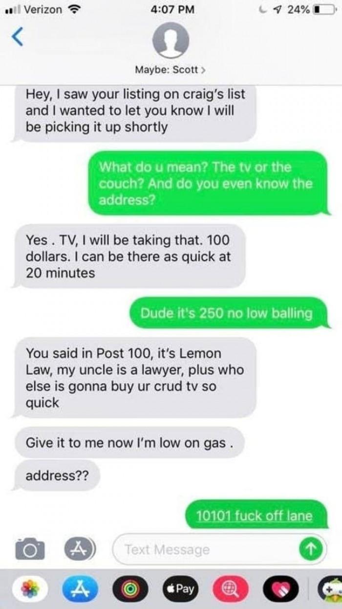 19. Lemon Law.