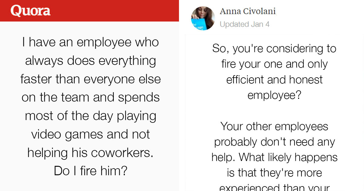 Boss Asks Internet If He Should Fire Employee Who Finishes Work Early To Play Video Games