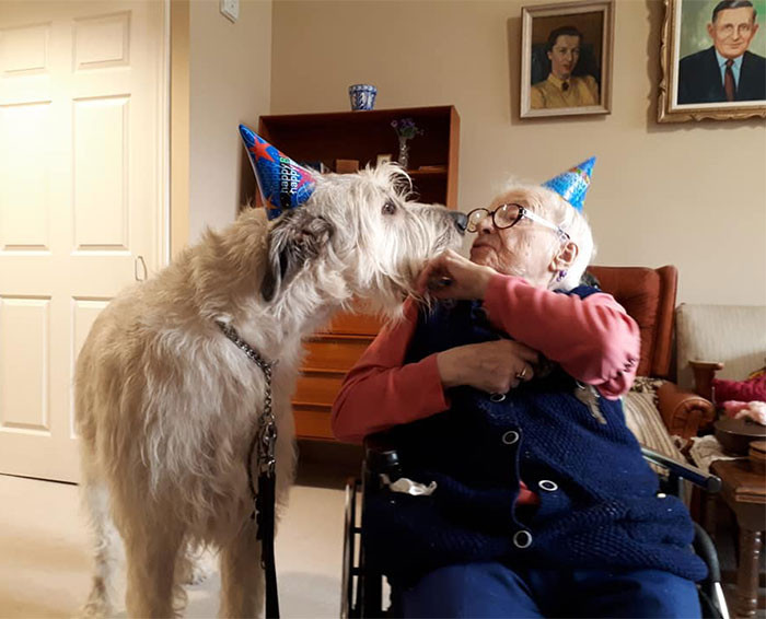 #11 Gilligan Sharing A Birthday Kiss With 110 Year Old Mariette
