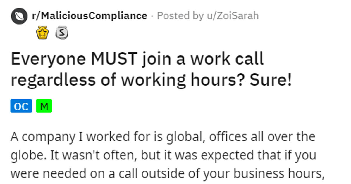 These Employees Had To Attend A Zoom Meeting At 4am So They Staged A Mutiny