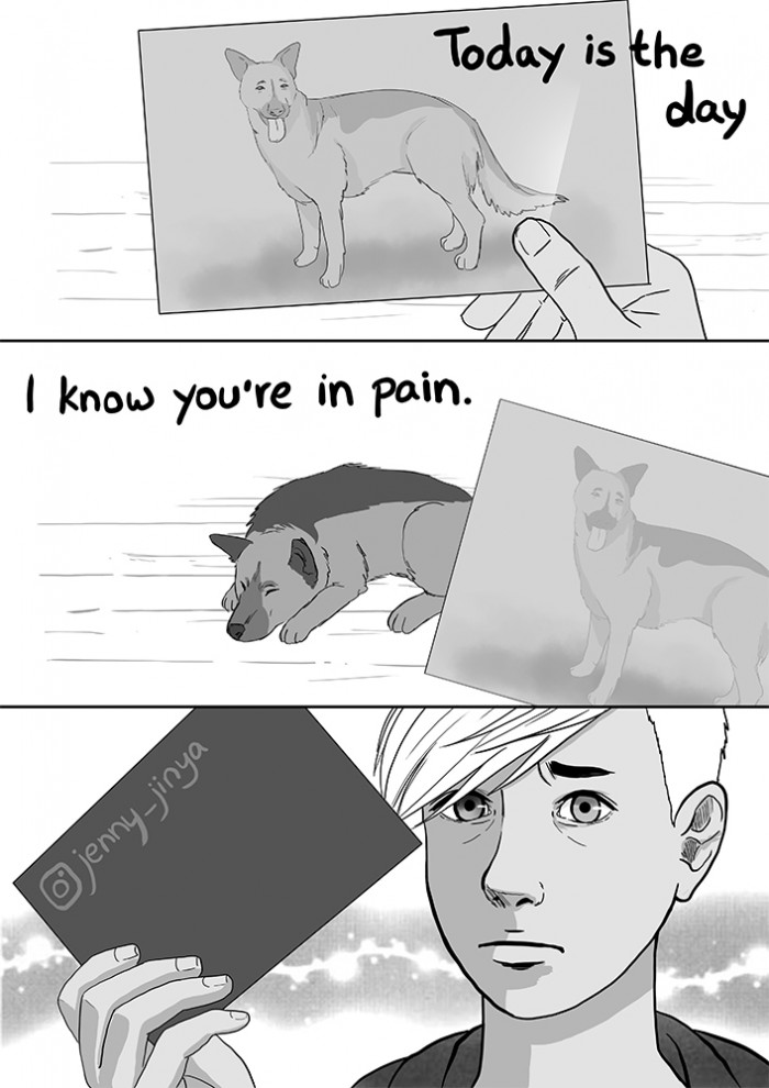 Artist Jenny-Jinya posted the heartbreaking comic on social media.