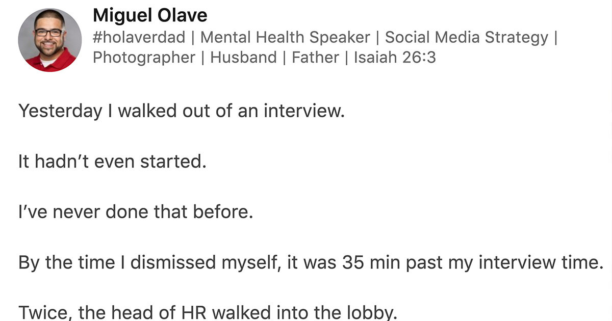 Man Shares Story Of Walking Out Of Job Interview When Interviewer Was Over 35 Minutes Late & Never Apologized