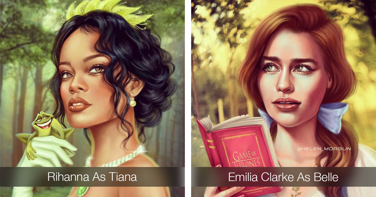 Artist Transforms 20 Celebrities Into Disney Princesses And The Results Are Beautiful