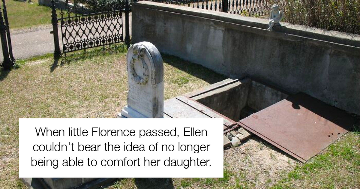 Child's Grave Was Made With A Built-In Stairway So Her Mother Could Come And Comfort Her During Storms